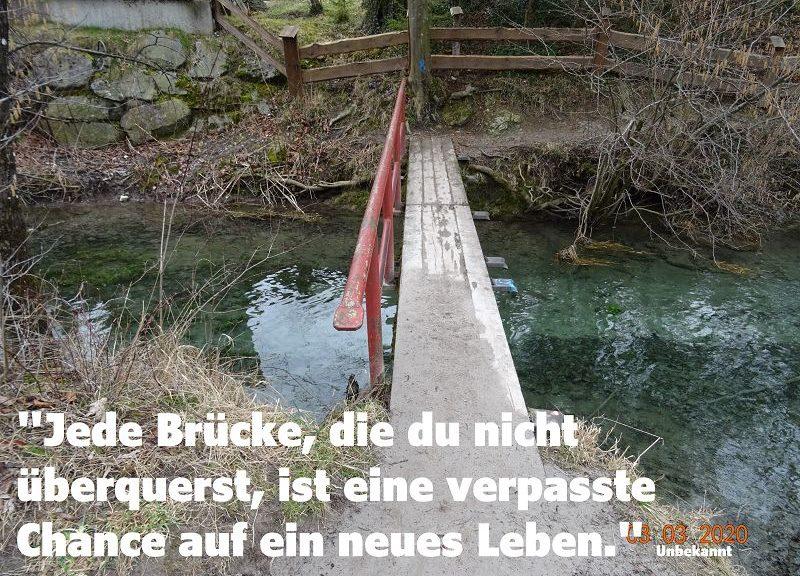 Überqueren Sie doch die Brücke zu einem Leben mit rein positivem Denken!