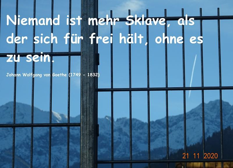 Wir halten uns für frei, sind es momentan aber nicht!